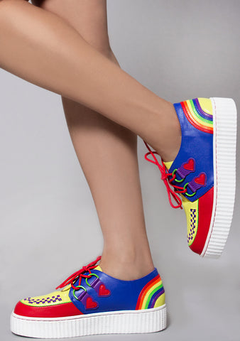 Krypt Retro Rainbow Pride Kreeper Sneakers