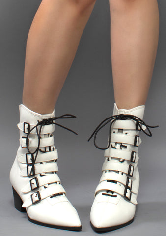 Coven Ankle Boots in White