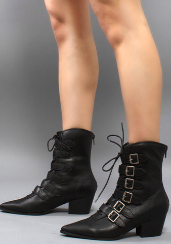 Coven Ankle Boots in Black