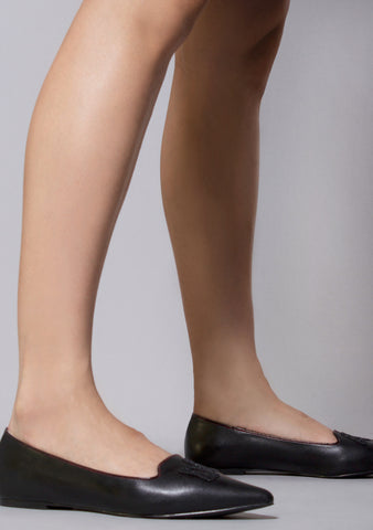 Dagger Drop Dead Gorgeous Flats in Black