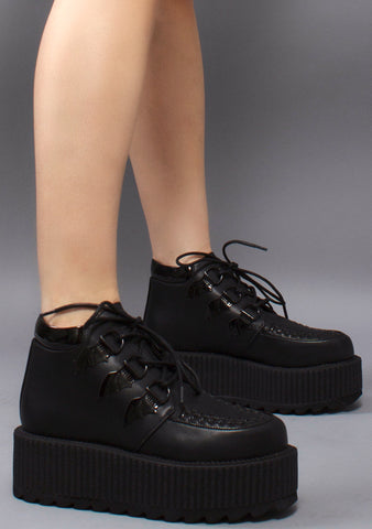 Strange Cvlt Super Kreep Black Platform Sneakers