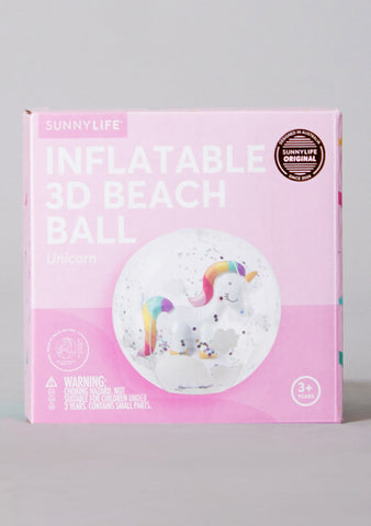 3D Unicorn Inflatable Beach Ball