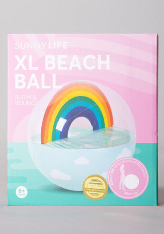 Rainbow Inflatable Beach Ball XL