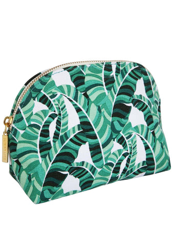 Banana Palm Pouch Cosmetic Bag