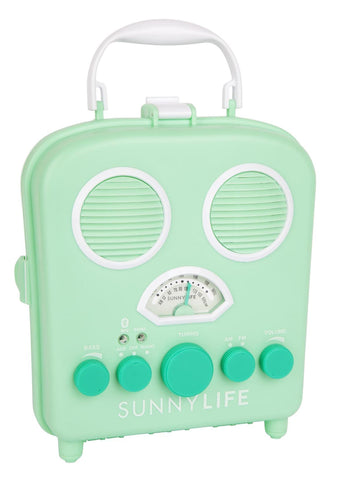 Beach Sounds Lucite Green Bluetooth Speaker