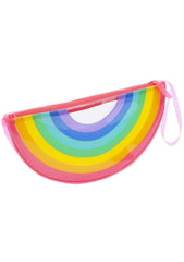 Sunnylife Rainbow See Thru PVC Clutch