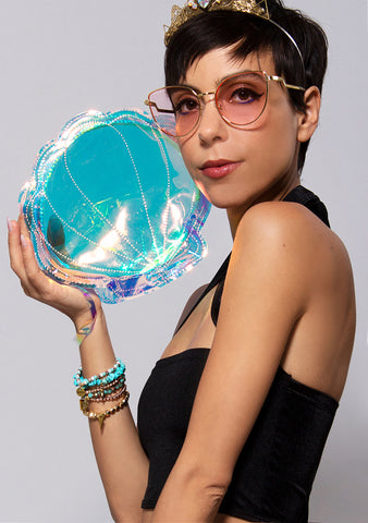 Sunnylife Luxe Shell See Thru Clutch