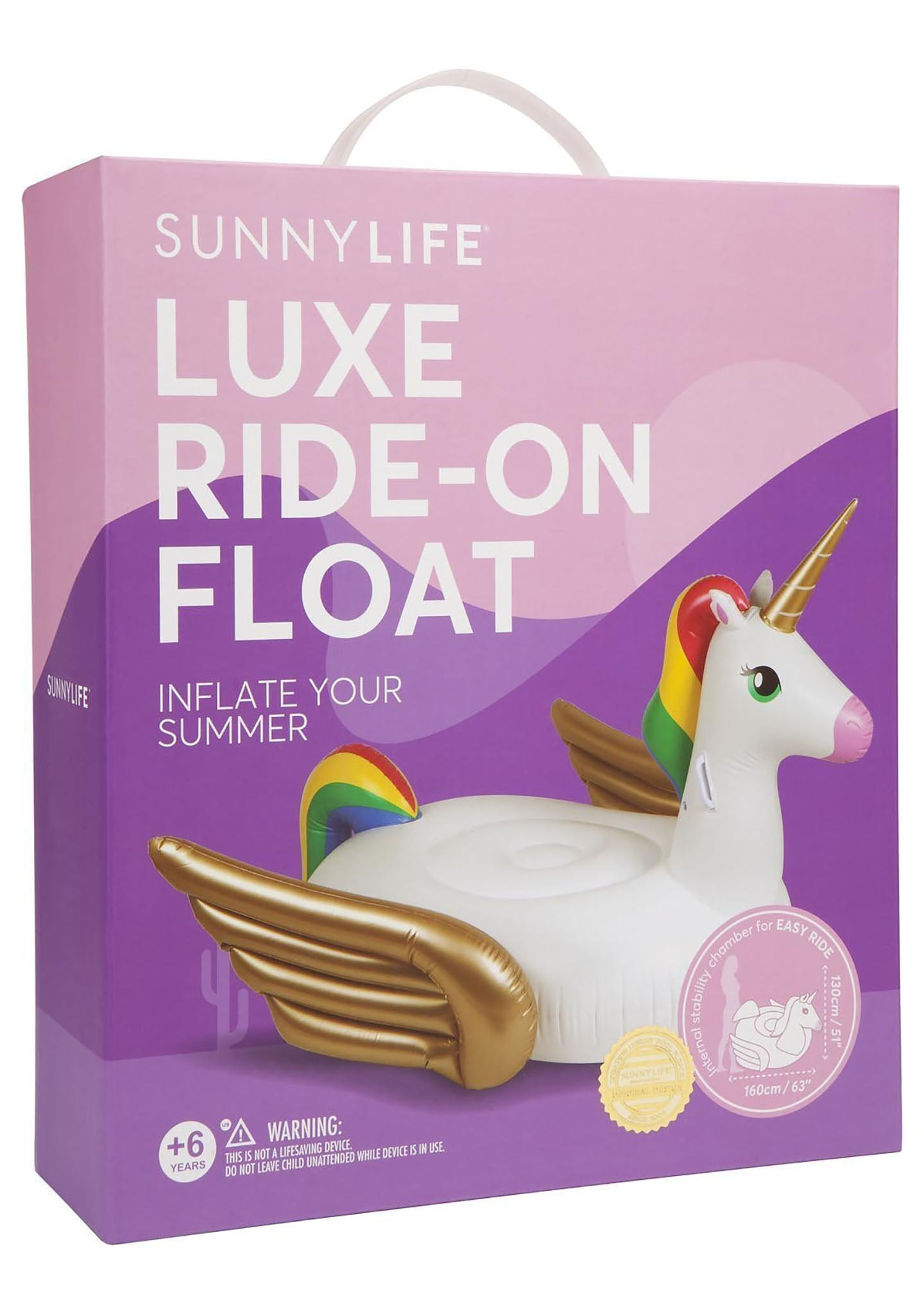 Sunnylife Luxe Ride-On Unicorn Float