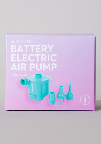 Battery Electric Air Pump in Turquoise