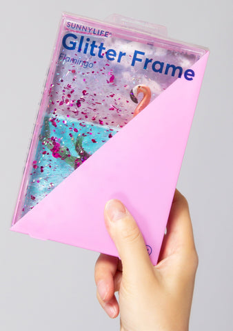 Flamingo Glitter Picture Frame