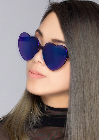 Midnight Love Heart Sunglasses