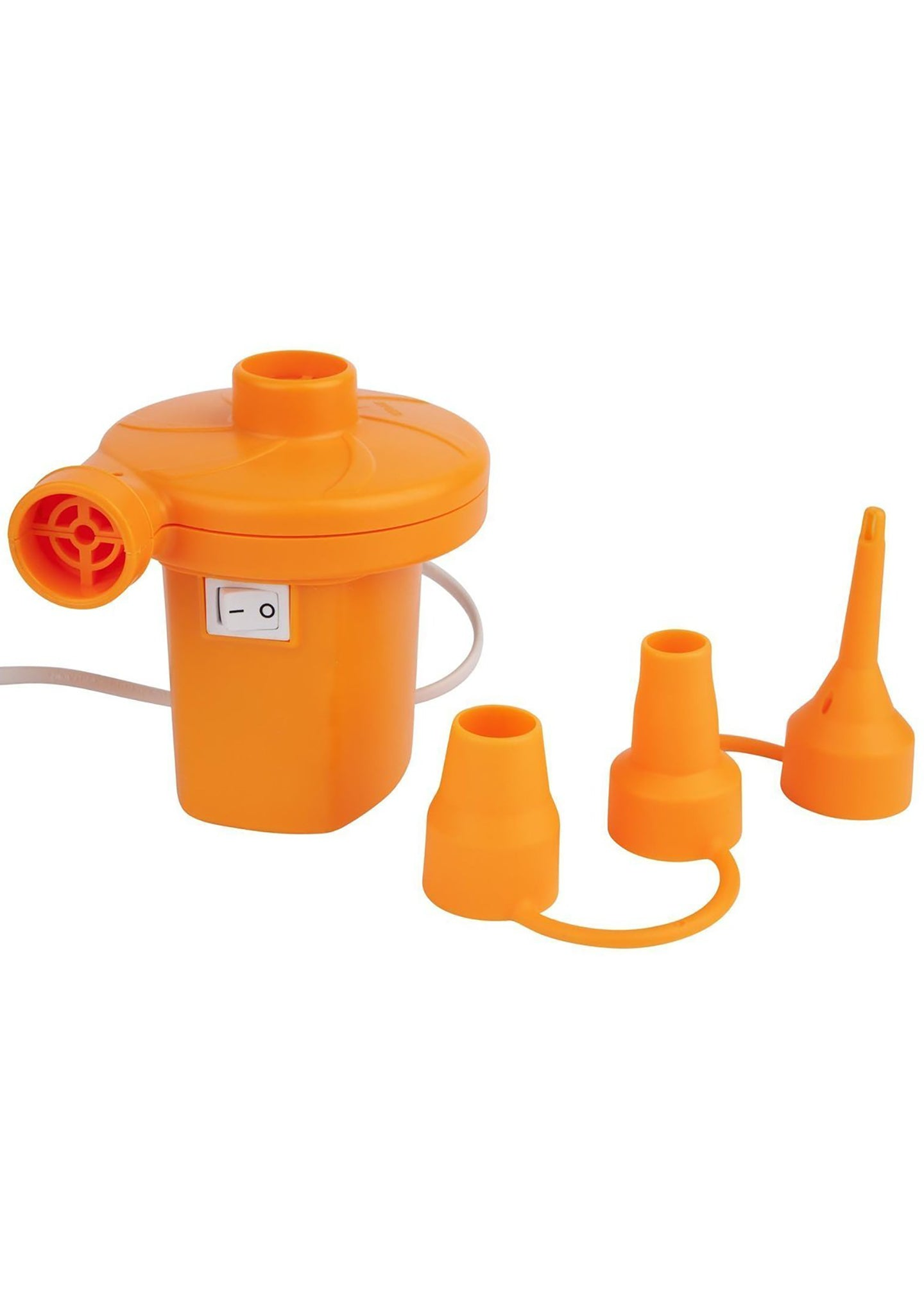 Plug In Electric Air Pump in Neon Orange