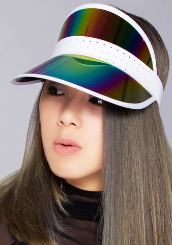 Midnight Iridescent Retro Sun Visor