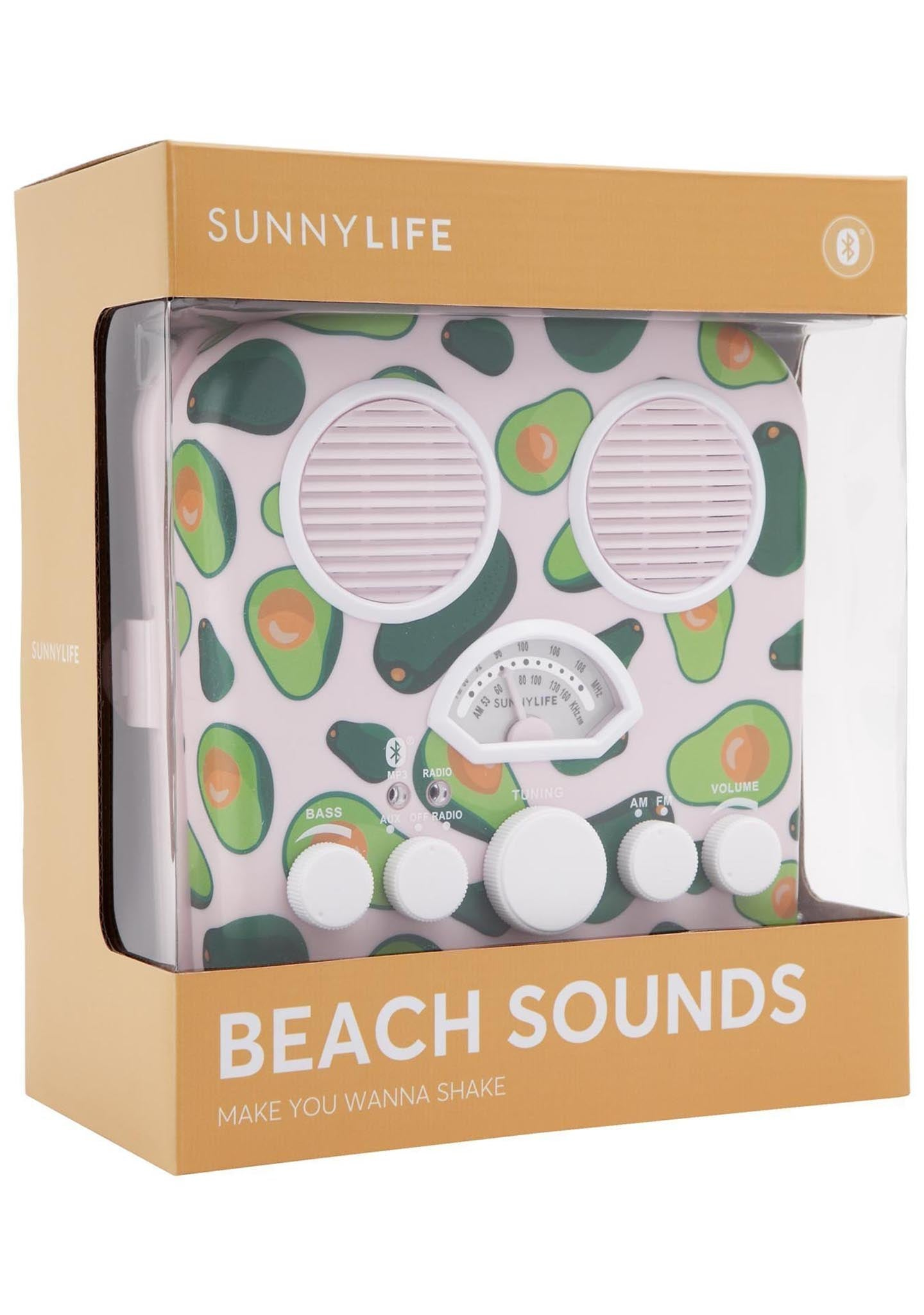 Sunnylife Beach Sounds Avocado Bluetooth Speaker