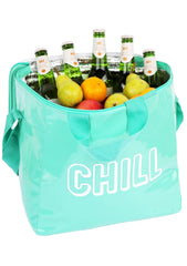 Chill Cooler Bag in Neon Turquoise