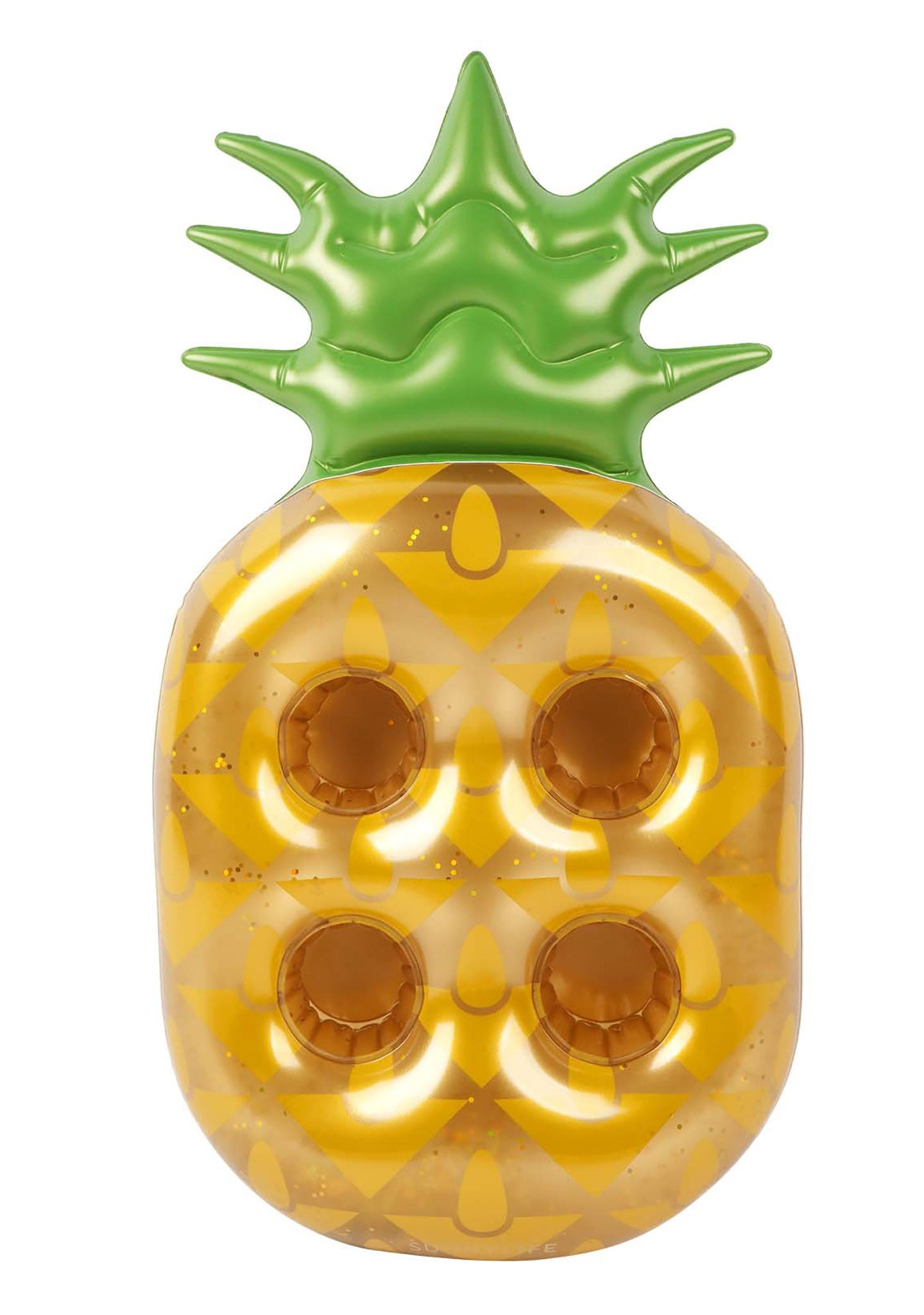 Sunnylife Gold Glitter Pineapple Drink Holder Float