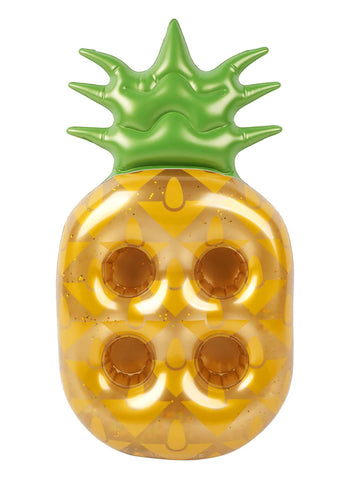 Gold Glitter Pineapple Drink Holder Float