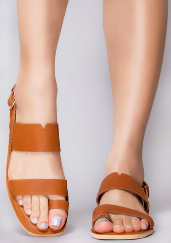Freya Vegetable Tanned Leather Sandals