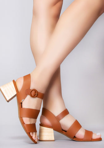 Grace Vegetable Tanned Leather Sandals in Tan