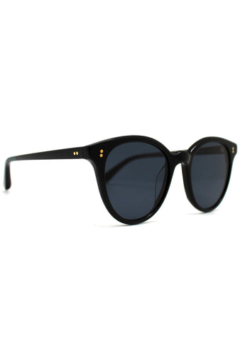 TOMS Aaryn Sunglasses in Shiny Black/Dark Grey