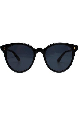 Aaryn Sunglasses in Shiny Black/Dark Grey