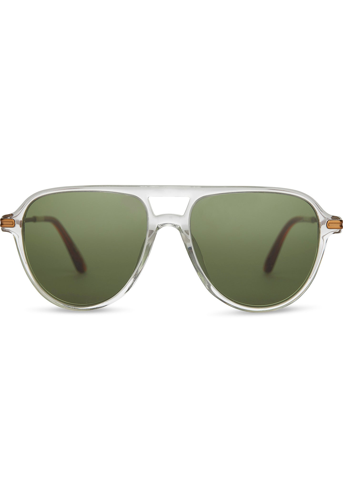 TOMS Beckett Sunglasses in Vintage Crystal/Green