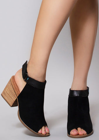 Suede Grenada Sandals in Black