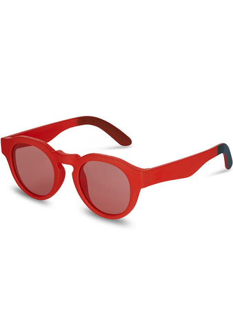 TRAVELER Bryton Sunglasses in Matte Fiesta Red