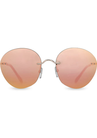Clara Sunglasses in Shiny Gold/Rose Gold