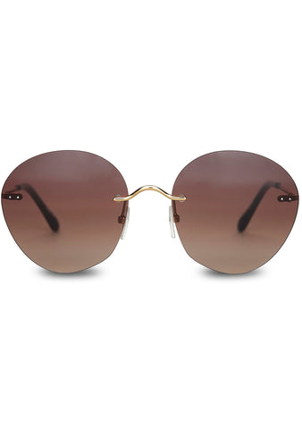 Clara Sunglasses in Shiny Gold/Dark Tortoise