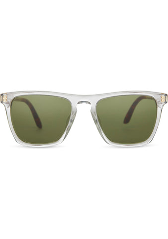 TOMS Dawson Sunglasses in Crystal Clear/Bottle Green