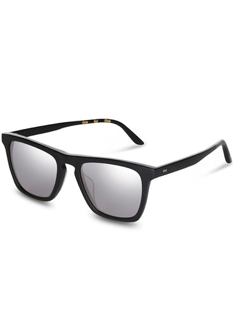 TOMS Dawson Sunglasses in Matte Black/Chrome