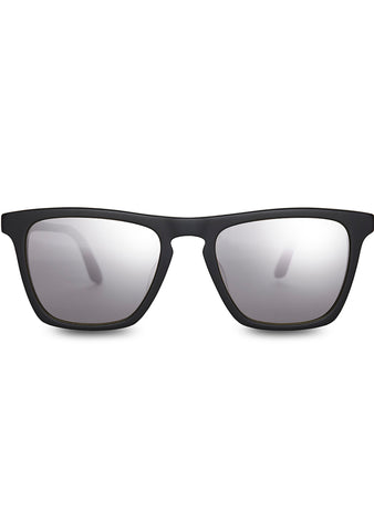 Dawson Sunglasses in Matte Black/Chrome