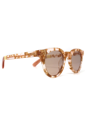 Fin Sunglasses in Crystal Champagne/Gold Fleck