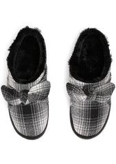 Ivy Knitted Sweater Slippers in Black White
