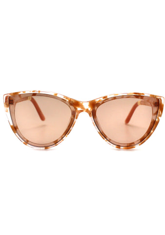 Josie Sunglasses in Champagne Crystal/Gold Fleck
