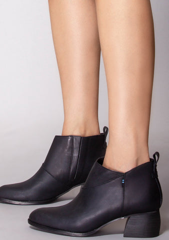 Leilani Leather Bootie in Black