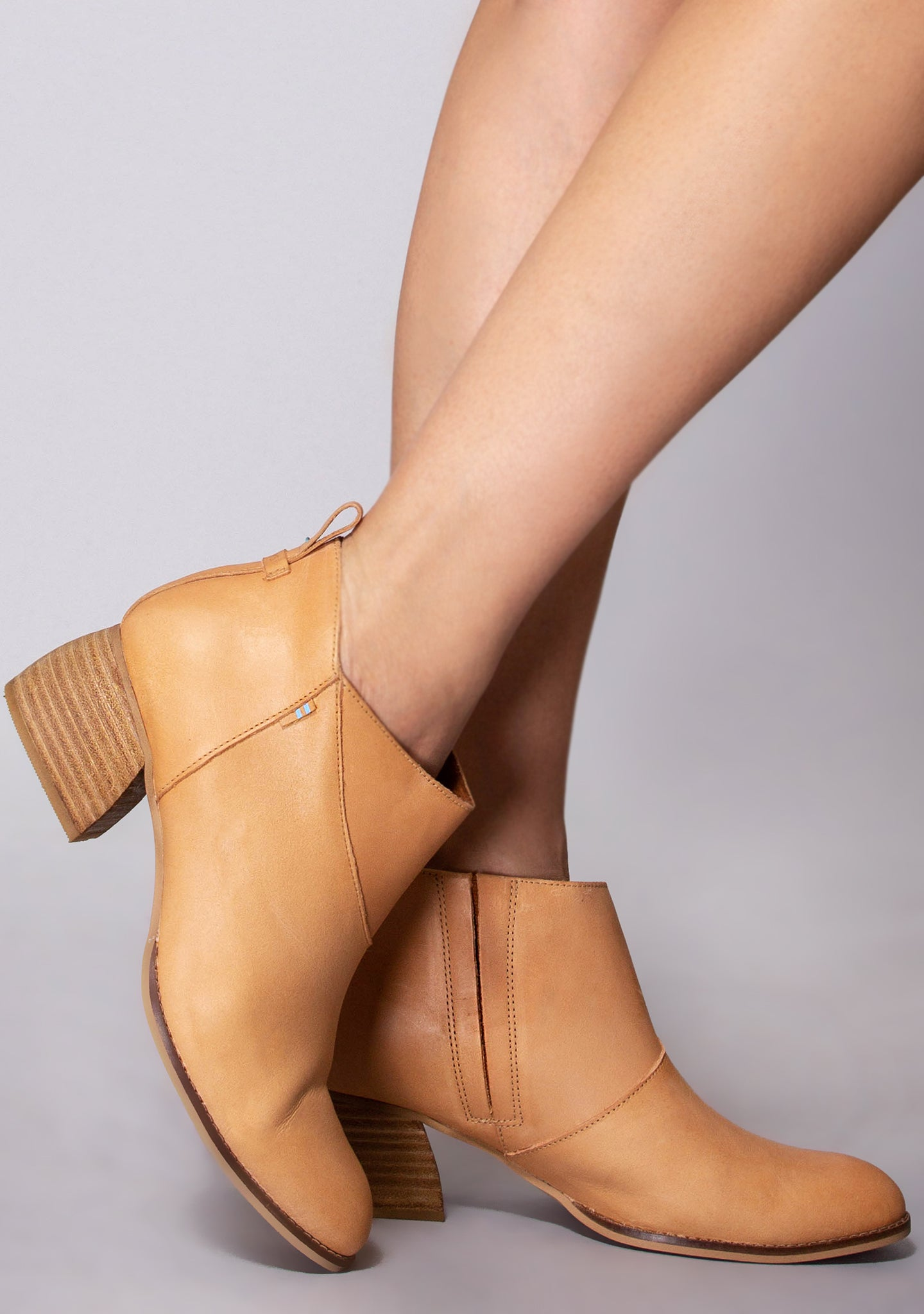 Leilani Leather Bootie in Honey