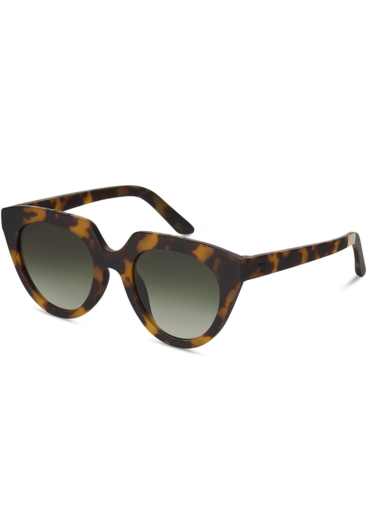 TRAVELER Lourdes Sunglasses in Matte Blonde Tortoise Polarized