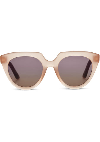 TRAVELER Lourdes Sunglasses in Matte Grapefruit