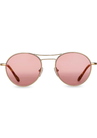Melrose Sunglasses in Shiny Gold/Cherry