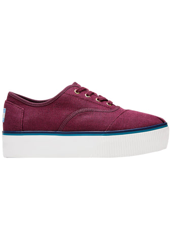 Canvas Heritage Cardback Platform Sneakers in Raisin