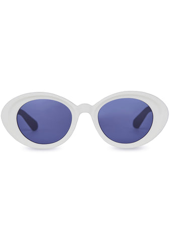 TRAVELER Rossio Sunglasses in White Cauliflower