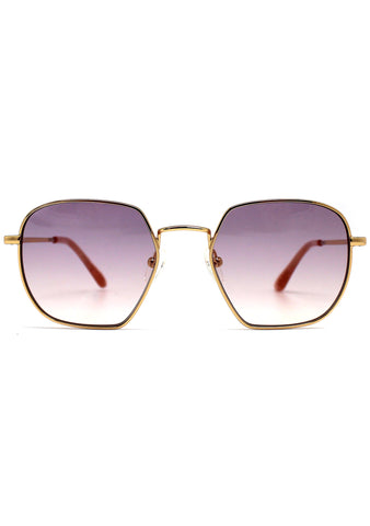 Sawyer Sunglasses in Yellow Gold/Purple Peach Gradient