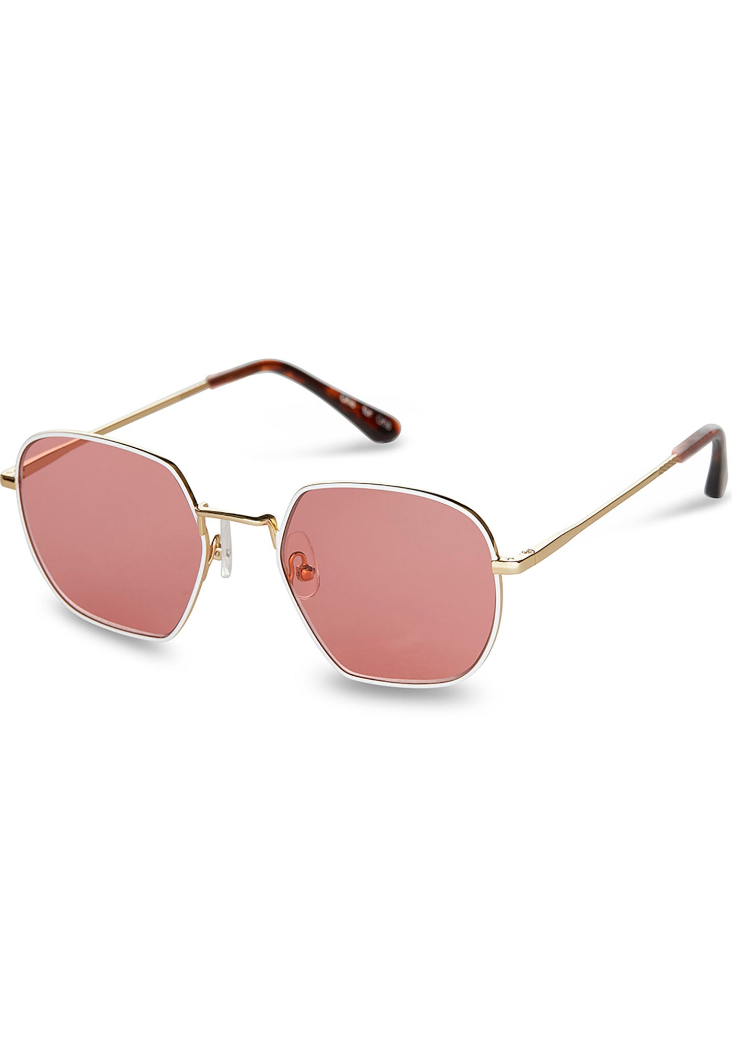 Sawyer Sunglasses in Shiny Gold/Cherry