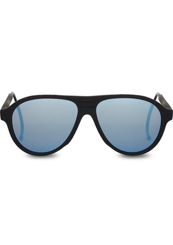 TOMS TRAVELER Zion Polarized Sunglasses in Matte Black/Blue