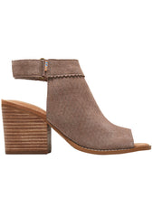 Suede Grenada Sandals in Perforated Taupe Grey