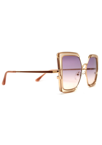 Tulum Sunglasses in Champagne Crystal/Purple