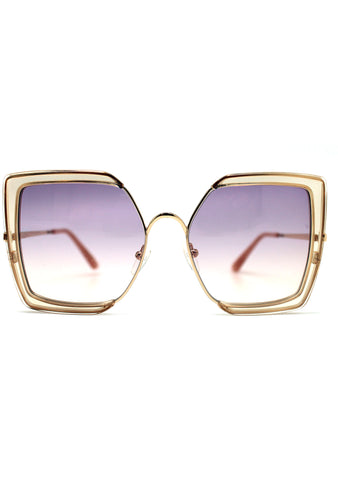 TOMS Tulum Sunglasses in Champagne Crystal/Purple