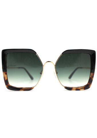 Tulum Sunglasses in Black/Tortoise/Dark Olive